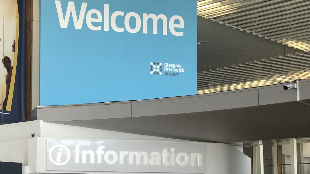 Prestwick Airport Taxi - New Information Centre